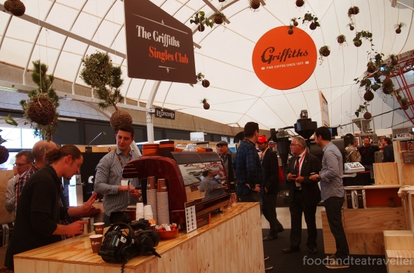 Griffiths organic coffee spacious stall